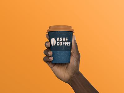 Ashe Coffee Cup logotype design icon logoicon logodesign logos coffee bean coffeeshop coffee coffee cup