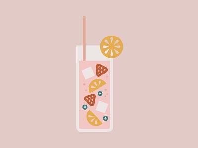 Fruity lemonade Drank design graphic illustration drank fruit lemonade drink