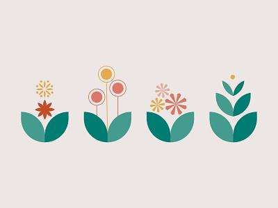 Plants flowers graphics illustration design illustration plants