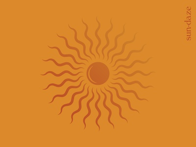 Sun-daze sunny day sunset sunrise graphic design illustration season sol sunshine summer sunny sun daze sun