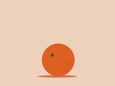 Bouncy Orange citrus juicy animation motiongraphic motion design illustration orange bounce