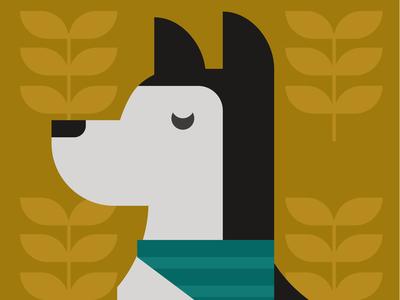 Dog in bandana