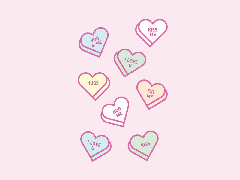Candy Hearts graphic weekoflove hearts candy vday valentinesday candyhearts