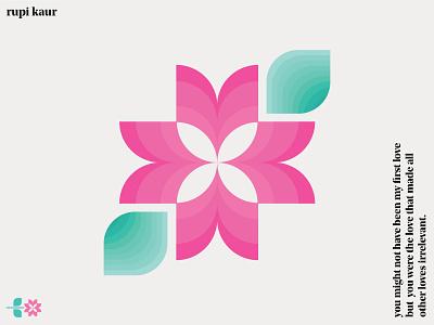 Rupi Kaur Poem illustration graphic design design love flourish weekoflove bloom graphic poetry poem rupi kaur flower flor