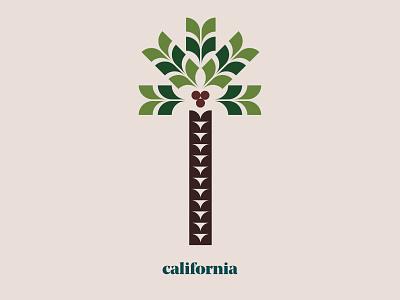 California Palm illustration design graphic design modern graphic cali plant palm beach california palm tree palm