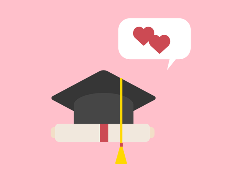 Love what you do study crush graduation flat flat design adobe illustration photoshop design love graduate university