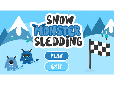 Snow Monster Sledding Game Menu