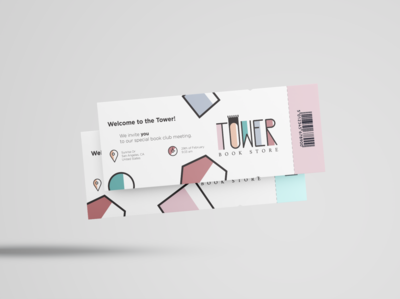 Bookstore Meeting Tickets Design