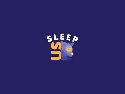Sleep Accessories Logo bear logo sleeping sleep bear logo logo design