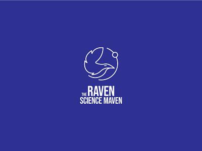 Science Blogger Logo design science raven vector logo logo design