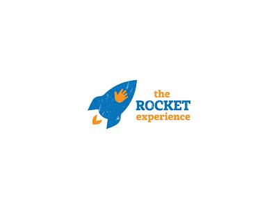 Interactive Rocket-Toy Logo children toy rocket vector branding design logo design logo