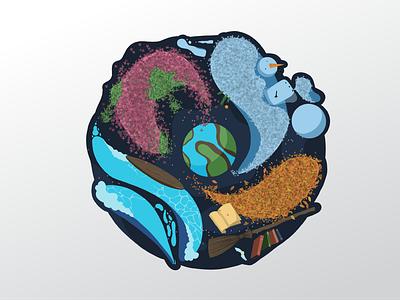 4 favourite seasons badge design illustration graphic design spring autumn winter summer seasons badge