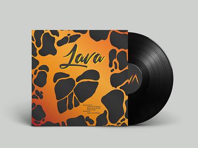 Hawaiian Lava Song Vinyl Record Design disney packages package design vector vinyl cover illustation