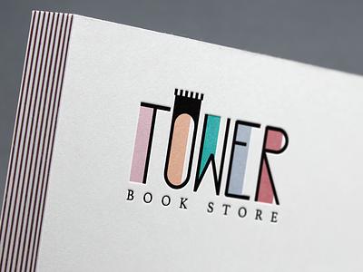 Bookstore Logo Design tower color books bookstore logo logo design