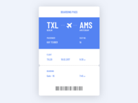 Daily UI Challenge: Boarding Pass