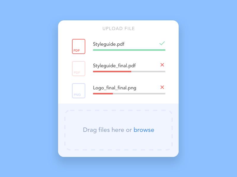 Daily UI Challenge: File Upload sketch ui ux dailyuichallenge dailyui