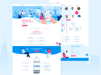 Website and illustration Feedback for Leaders Teams