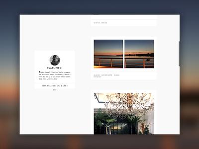Tumblr theme CLASSIFIED; web tumblr