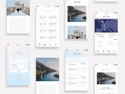 Air Travel App Concept travel iphone concept mobile app design ui