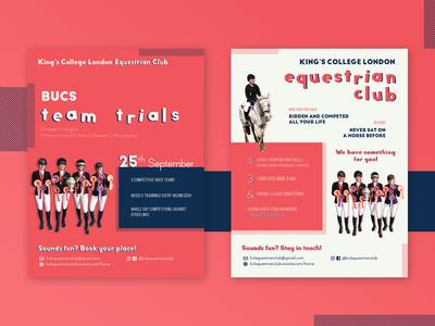 Sport event / leaflet design