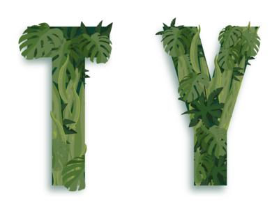 Plant typography