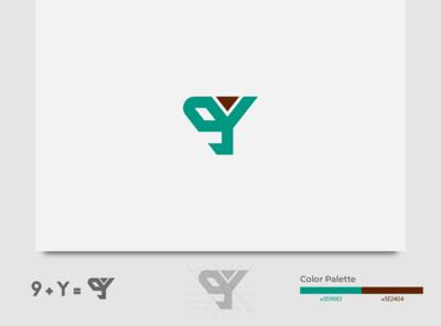 Logo 9Y illustration identity typography fiverr logo vector branding illustrator minimal brand