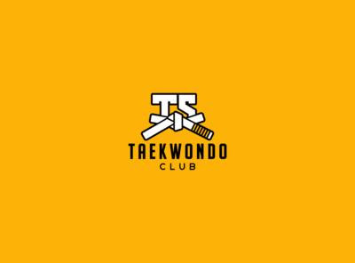 Taekwondo club marketplace marketing graphicdesign vector branding icon flat lettering typography identity logo illustrator minimal brand