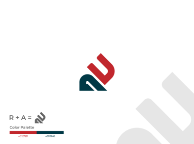 RA Monogram fiverr design typography logo identity vector branding illustrator minimal brand