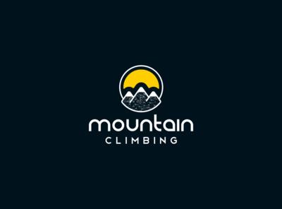 Mountain Climbing illustration fiverr typography logo identity vector illustrator branding minimal brand