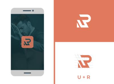 UR Monogram design fiverr typography logo identity vector illustrator branding minimal brand