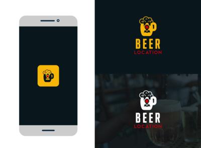 Beer Location illustration lettering fiverr typography logo vector illustrator branding minimal brand