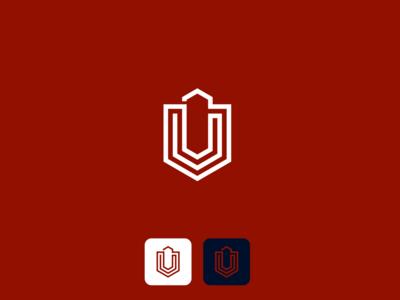 U Monogram illustration fiverr typography identity logo vector illustrator branding minimal brand
