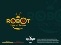 Robot Logo illustration typography fiverr logo identity vector branding illustrator minimal brand