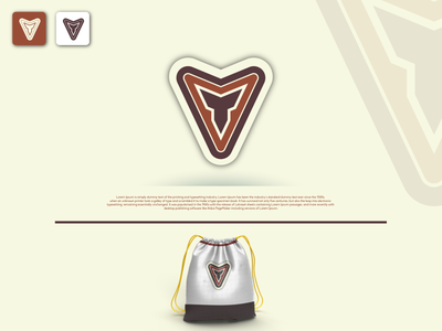 Monogram Logo design typography vector logo identity fiverr branding illustrator minimal brand