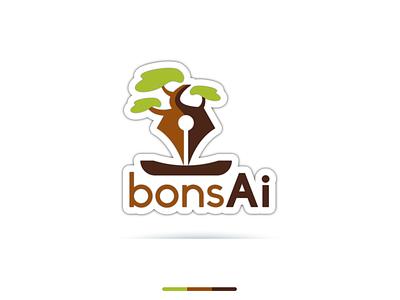 BonsAi Illustration illustration design typography vector logo identity fiverr branding illustrator minimal brand