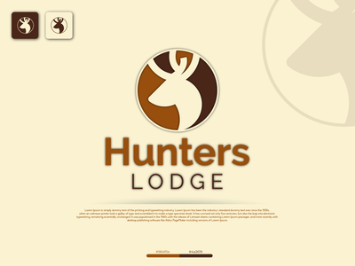 Hunters Lodge illustration design typography vector logo identity fiverr branding illustrator minimal brand