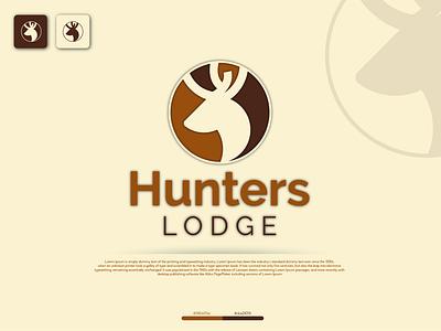 Hunters Lodge illustration design typography vector logo identity fiverr branding illustrator minimal brand