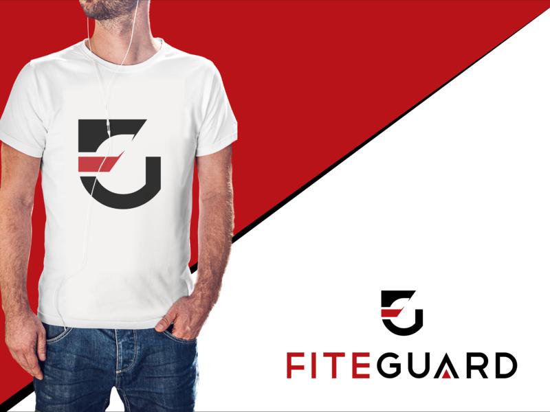 FiteGuard character mobile logo design artwork lettering app flat fiverr website illustration icon typography vector minimal logo illustrator identity design branding brand