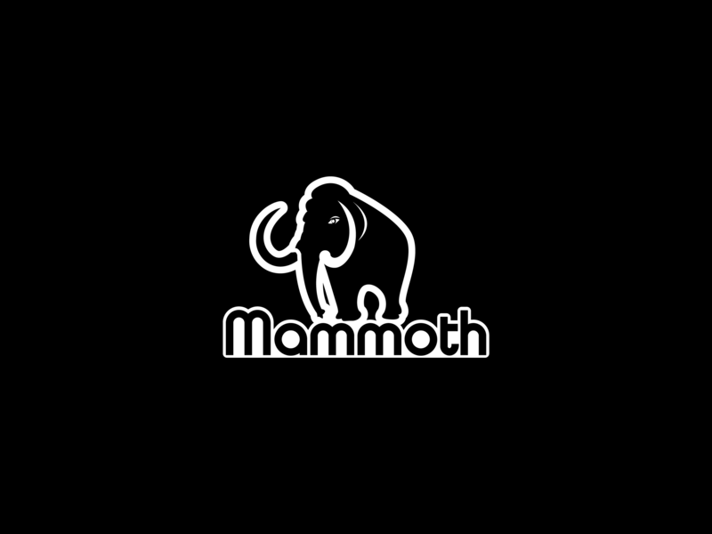 Mammoth graphic deisgn logo design animation artwork icons icon website lettering flat fiverr illustration typography vector minimal logo illustrator identity design branding brand