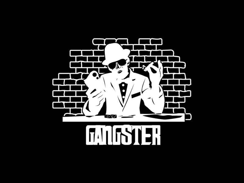 Gangster icons graphic deisgn logo design type artwork website icon lettering flat fiverr illustration typography vector minimal logo illustrator identity design branding brand