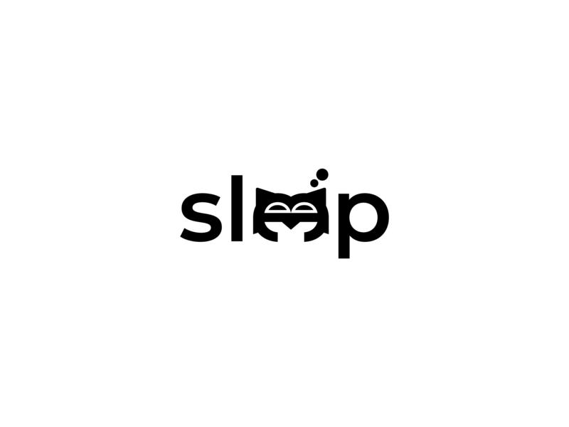 Sleep graphic deisgn logo design animation artwork icons website icon lettering flat fiverr illustration typography vector minimal logo illustrator identity design branding brand