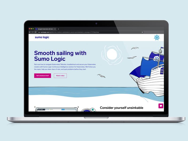 Sumologic | Kubernetes Campaign design promotion marketing flat graphic vector illustration