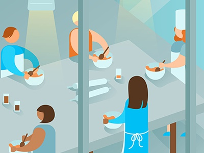 Editorial illustration on next level banking for Fast Company