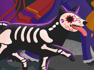 Halloween 2016 Campaign for Google Play digital art google play dia de los muertos day of the dead campaign promotion marketing merchandising illustration google halloween
