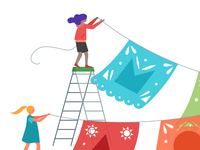Editorial illustrations for the Google Play Dev blog