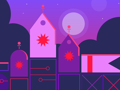Cyber Week 2017 Campaign for Google Play art direction play store cyber monday space graphic cityscape vector merchandising campaign illustration google cyber