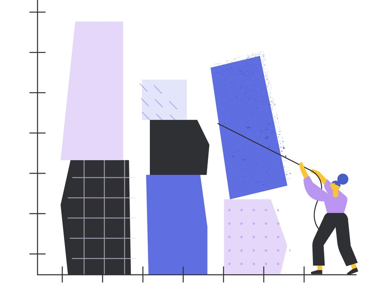 Thumbtack Brand Illustration Style tech pastel geometric postmodern illustration systems brand refresh branding brand identity brand illustraton graphic vector illustration