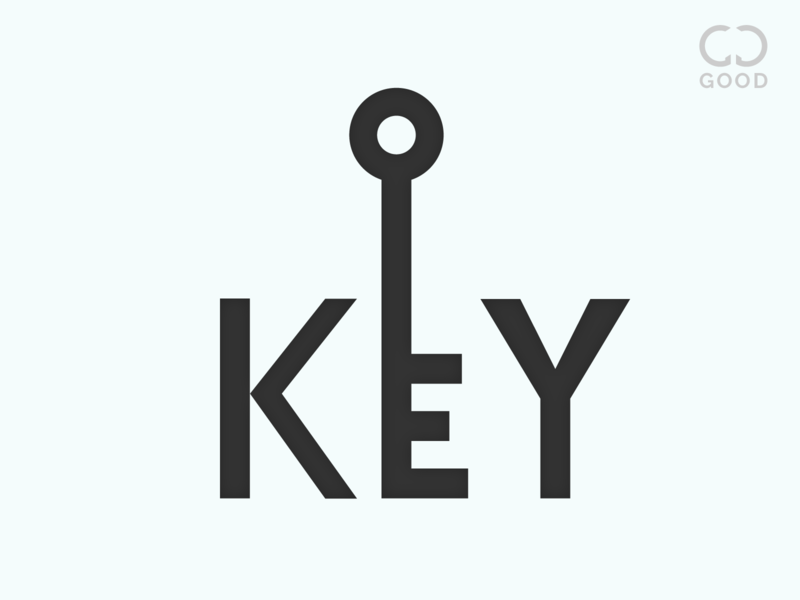 Key Text Logo gd dark white black lock new text logo key