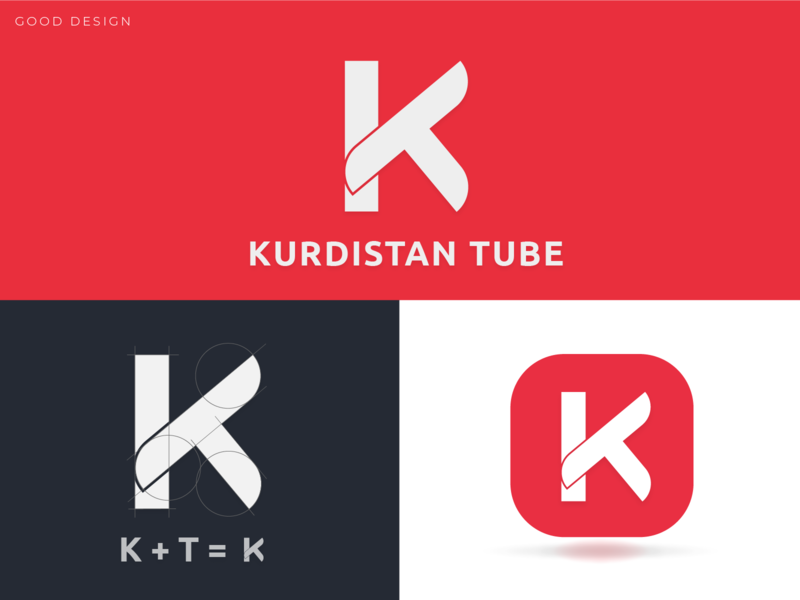 Kurdistan Tube Logo app icon new creative red branding logo