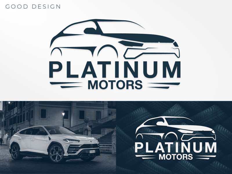 PLATINUM MOTORS gaylankak gooddesigngd exhibition branding tire vehicle motors platinum logos logo